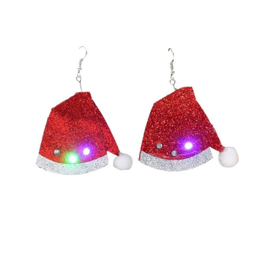 Christmas LED Light Up Flashing Earrings Xmas Costume Party ...