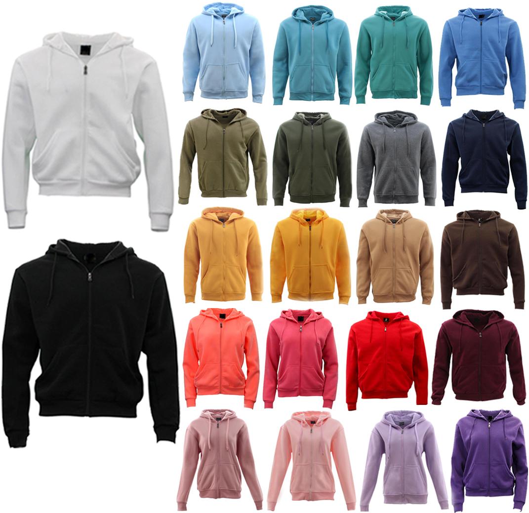 Adult Unisex Men S Zip Up Hoodie W Fleece Hooded Jacket