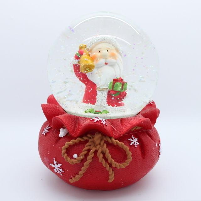 Large light up christmas snow globe water ball santa
