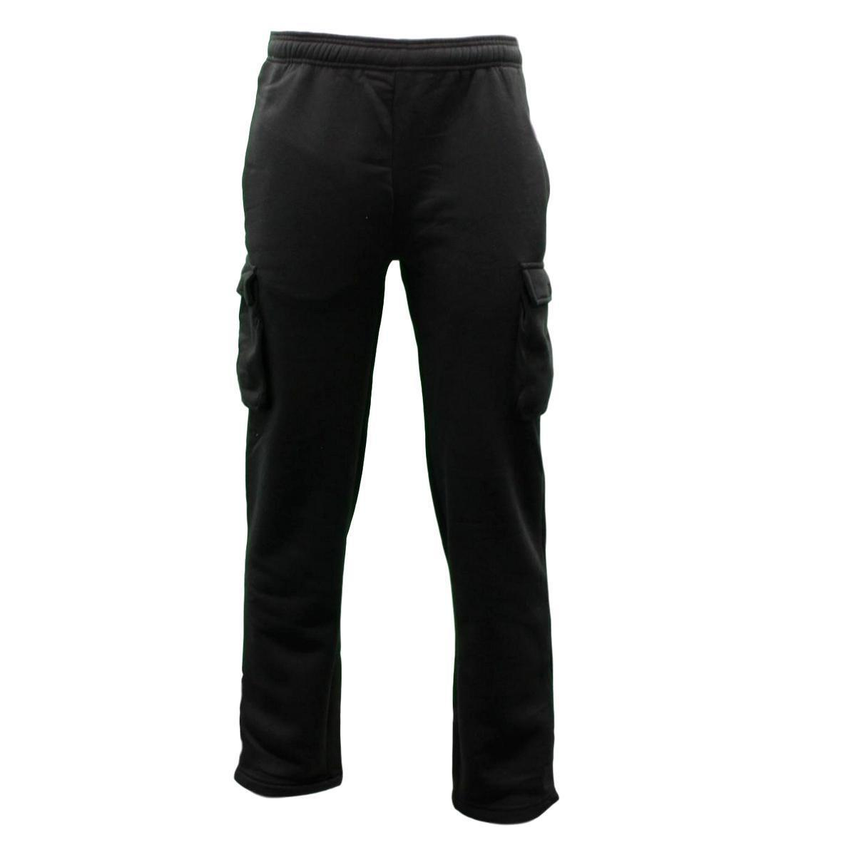 NEW Men/'s Cargo Fleece Casual Jogging Sports Track Suit Pants Trackies