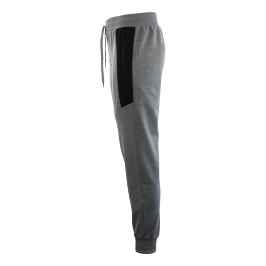 FIL-Mens-Unisex-Jogger-Track-Pants-Casual-Black-Zipped-Pockets-Cuffed-Trousers thumbnail 37