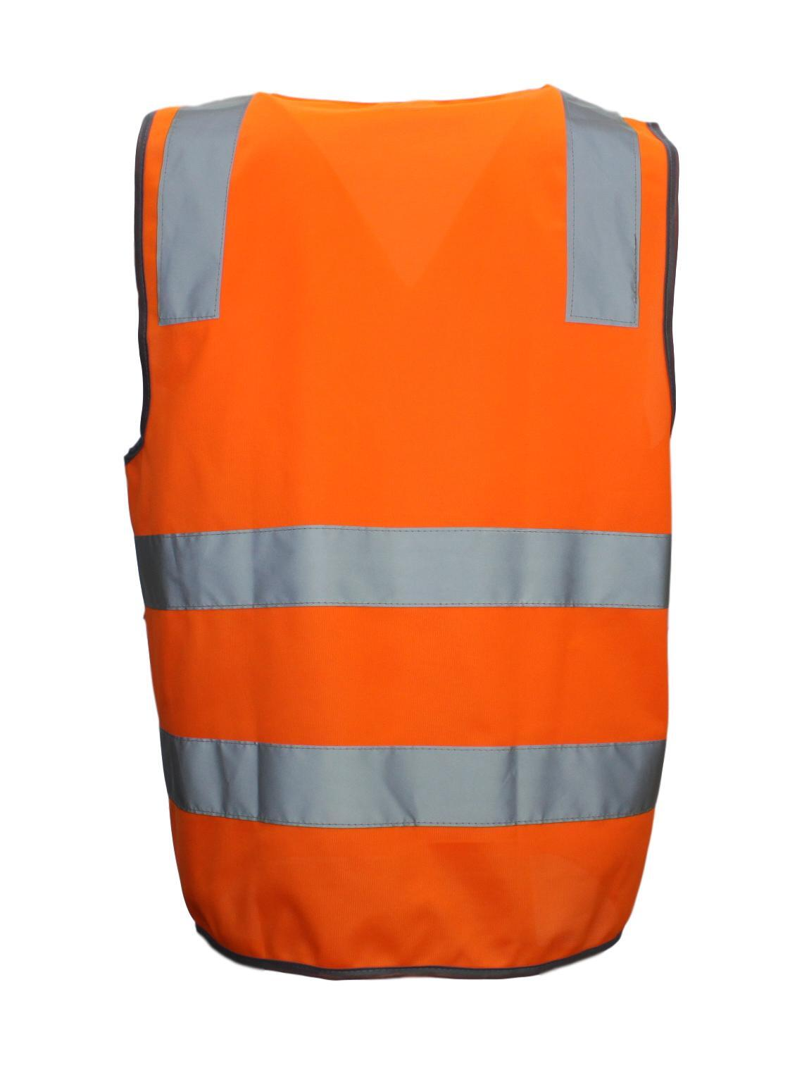 Hi-Vis-Safety-Vest-Reflective-Tape-Zip-Up-Workwear-Pocket-Night-High-Visibility thumbnail 9