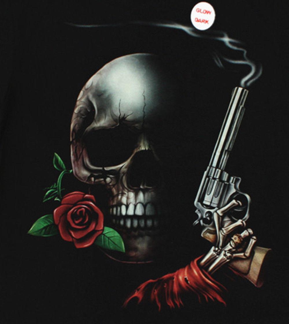 Men-039-s-Glow-in-Dark-T-Shirt-Demon-Skull-Grim-Reaper-Ghost-Bones-Punk-Rock-Goth thumbnail 23