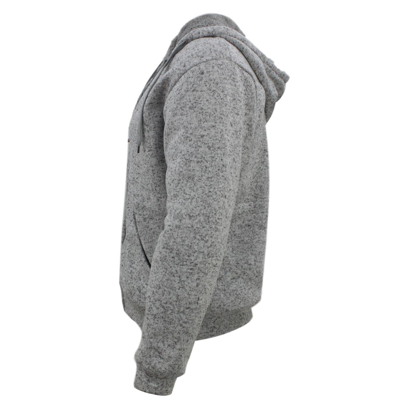 Winter-Mens-Womens-Unisex-Zip-Up-Hoodie-w-Sherpa-Fur-Thick-Hooded-Jacket-Jumper thumbnail 51