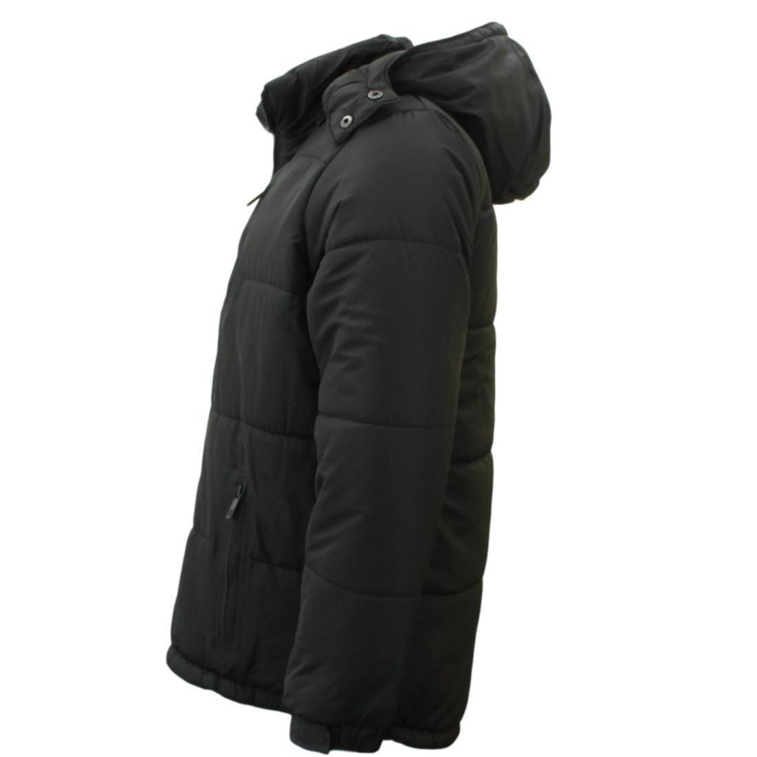 Stitch-Dodge-Mens-Parka-Puffer-Jacket-Quilted-Detachable-Hoodie-Puffy-Padded thumbnail 3