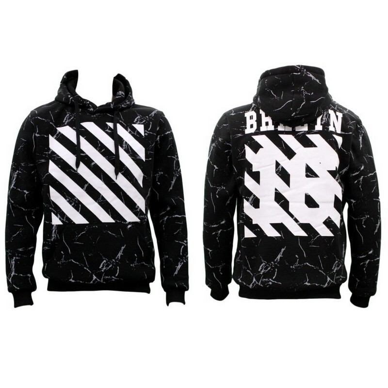 NEW-Men-039-s-Adult-Unisex-Hoodie-Jumper-Pullover-Casual-Sports-Brooklyn-BRKLYN thumbnail 5