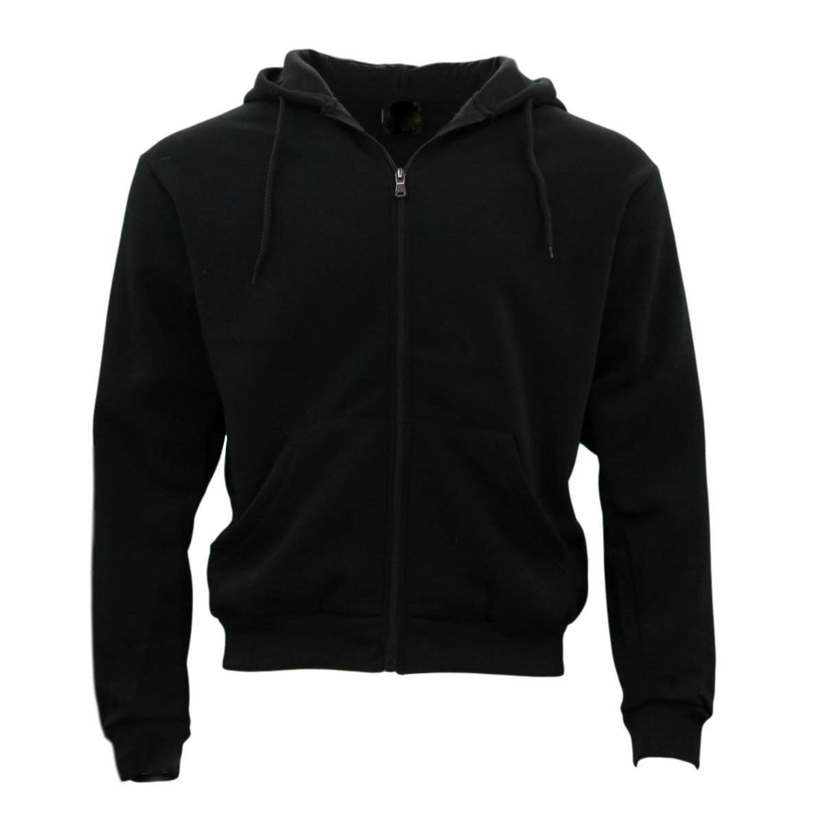 Adult-Unisex-Men-039-s-Zip-Up-Hoodie-w-Fleece-Hooded-Jacket-Jumper-Basic-Blank-Plain thumbnail 4