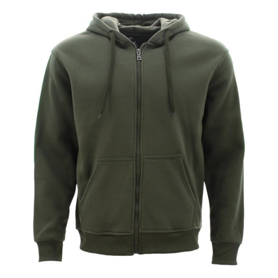 Adult-Unisex-Men-039-s-Zip-Up-Hoodie-w-Fleece-Hooded-Jacket-Jumper-Basic-Blank-Plain thumbnail 32