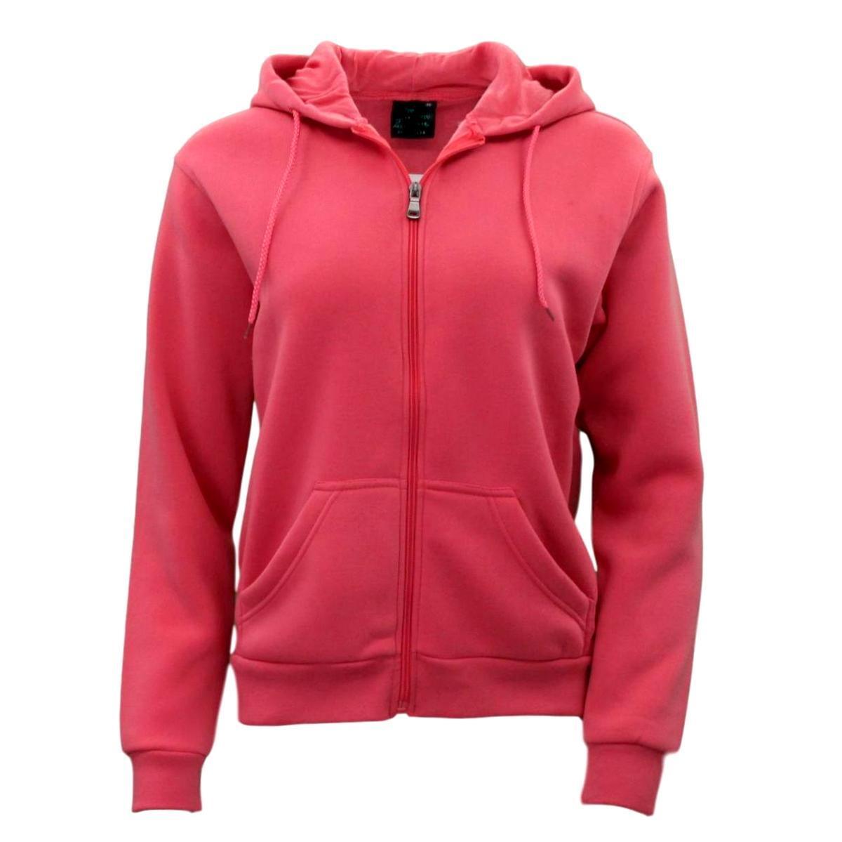 Adult-Unisex-Men-039-s-Zip-Up-Hoodie-w-Fleece-Hooded-Jacket-Jumper-Basic-Blank-Plain thumbnail 36
