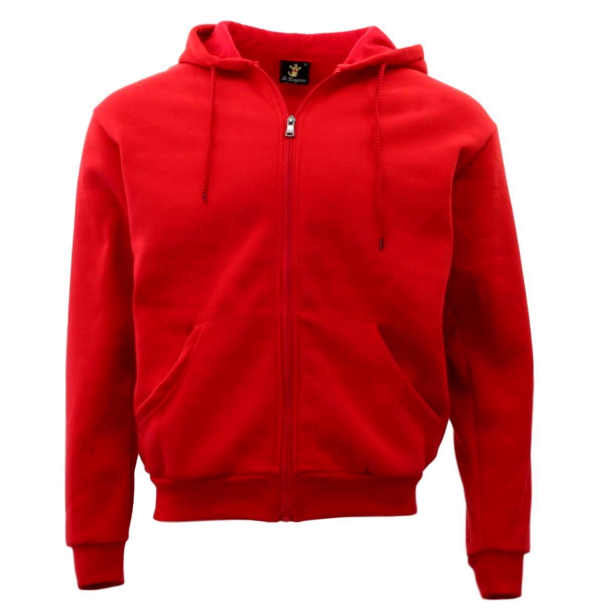 Adult-Unisex-Men-039-s-Zip-Up-Hoodie-w-Fleece-Hooded-Jacket-Jumper-Basic-Blank-Plain thumbnail 45