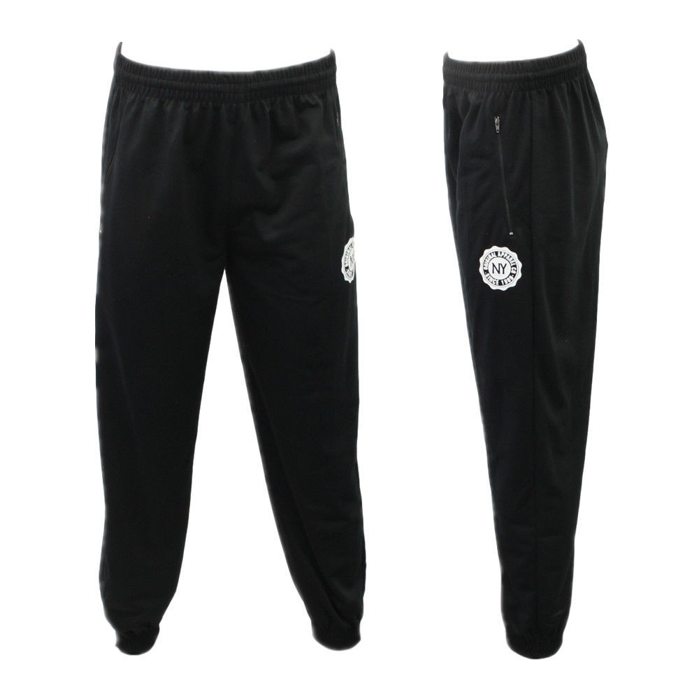 Men-039-s-Skinny-Jogger-Track-Pants-w-Zip-Pocket-Cuff-Trousers-Trackies-Sweat-Pants thumbnail 4