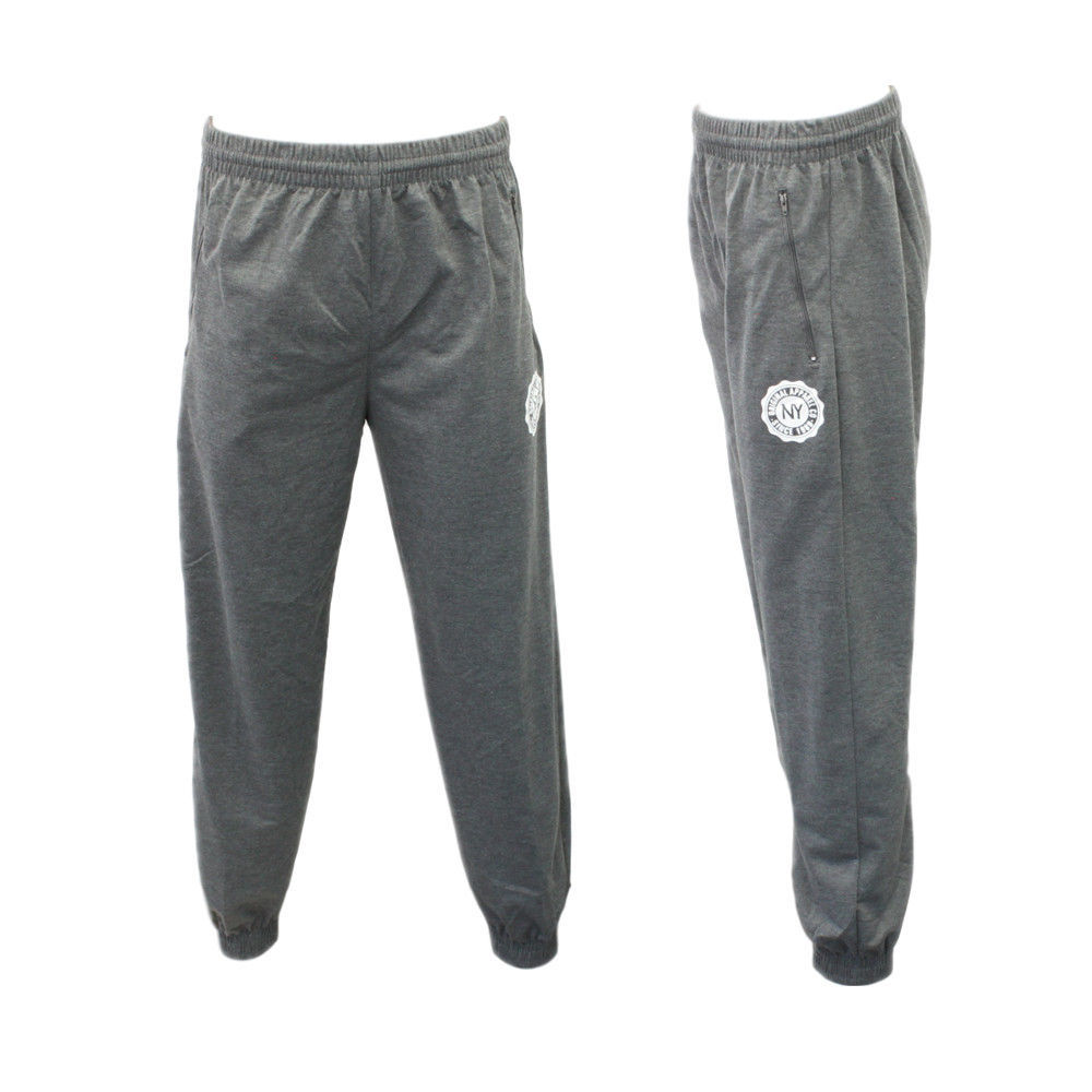 Men-039-s-Skinny-Jogger-Track-Pants-w-Zip-Pocket-Cuff-Trousers-Trackies-Sweat-Pants thumbnail 15