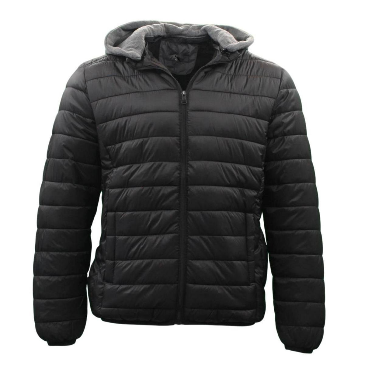 Men-s-Puffy-Puffer-Windproof-Hoodie-Hooded-Sherpa-Fur-Jacket-Quilted-Winter thumbnail 6