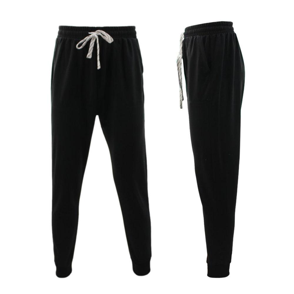 NEW-Men-039-s-Track-Pants-Slim-Cuff-Trousers-Sport-Tracksuit-Casual-Plain-Black-Grey thumbnail 3