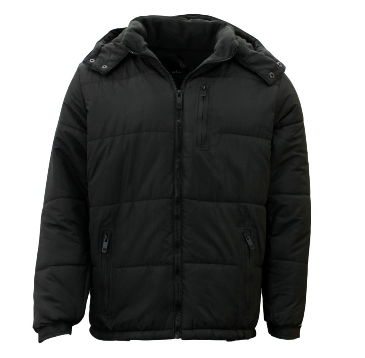 Stitch-Dodge-Mens-Parka-Puffer-Jacket-Quilted-Detachable-Hoodie-Puffy-Padded thumbnail 4
