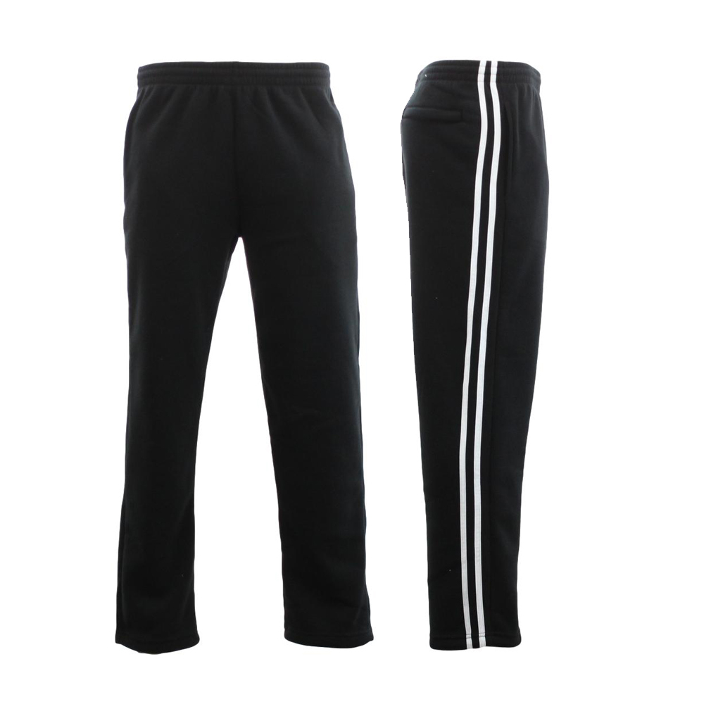 NEW-Men-039-s-Fleece-Lined-Track-Pants-w-Zip-Pocket-Striped-Casual-Track-Suit-Pants thumbnail 3