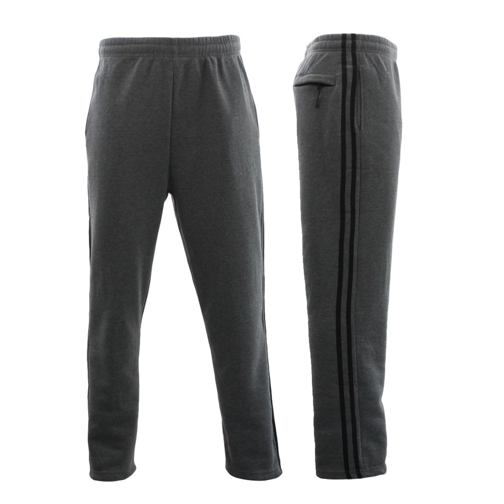 NEW-Men-039-s-Fleece-Lined-Track-Pants-Track-Suit-Pants-Striped-Casual-w-Zip-Pocket thumbnail 7