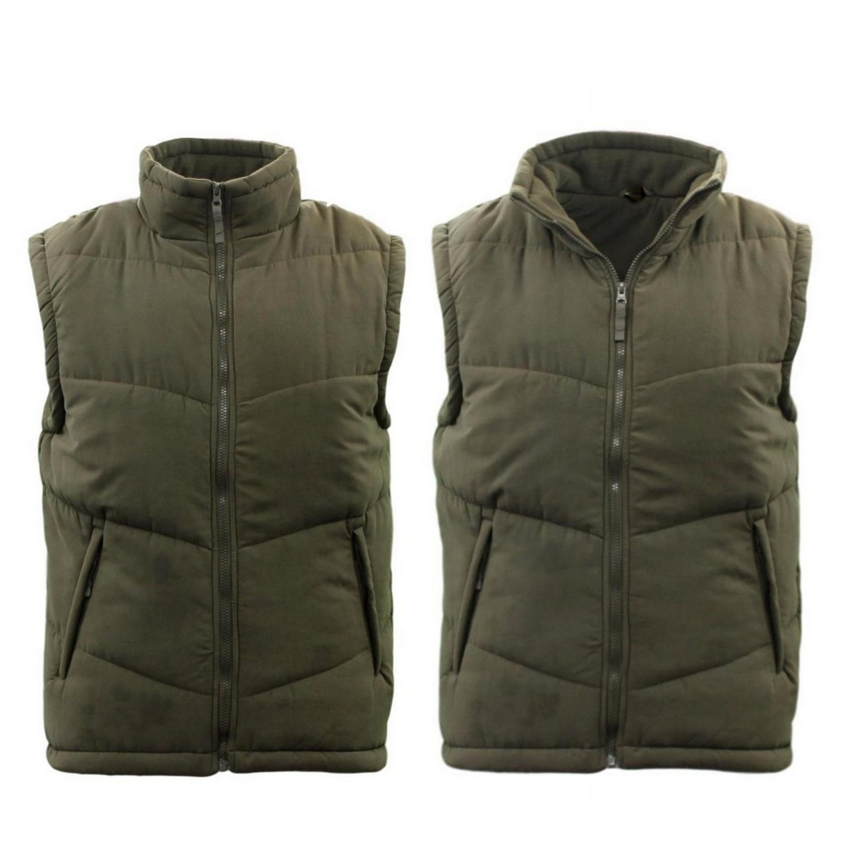 Men-039-s-Block-Quilted-Puffer-Vest-Sleeveless-Thick-Outerwear-Full-Zip-Jacket thumbnail 15