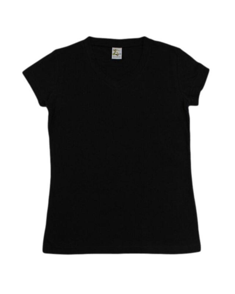 NEW-Womens-Ladies-Cotton-Stretch-T-Shirt-Tee-Top-Basic-Plain-White-Black-Colours thumbnail 4