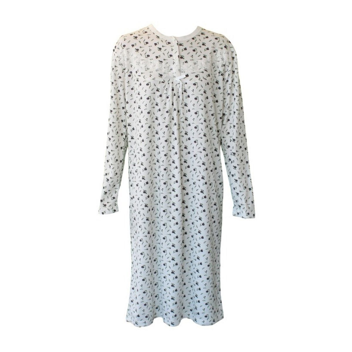 Women-039-s-Cotton-Long-Sleeve-Nightie-Night-Gown-Winter-Pajamas-Pyjamas-Sleepwear thumbnail 14