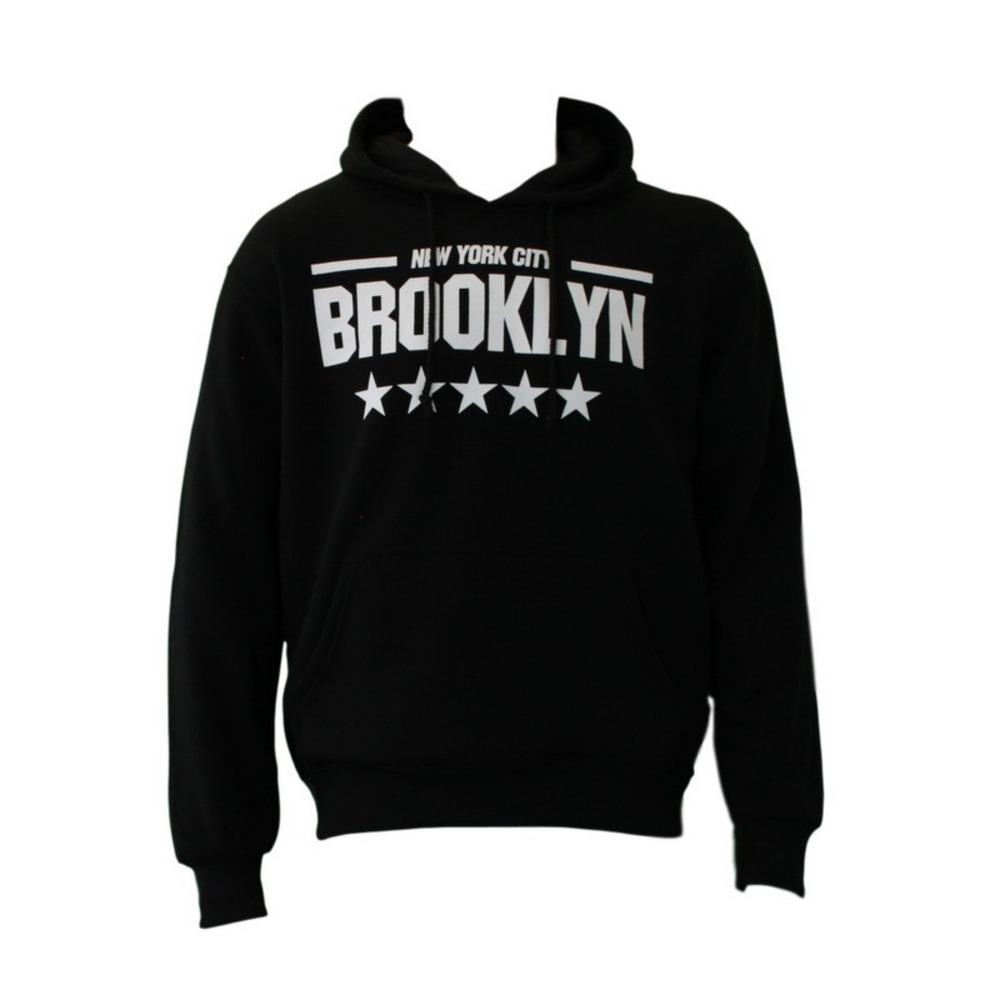 NEW-Men-039-s-Adult-Unisex-Hoodie-Jumper-Pullover-Casual-Sports-BROOKLYN thumbnail 4