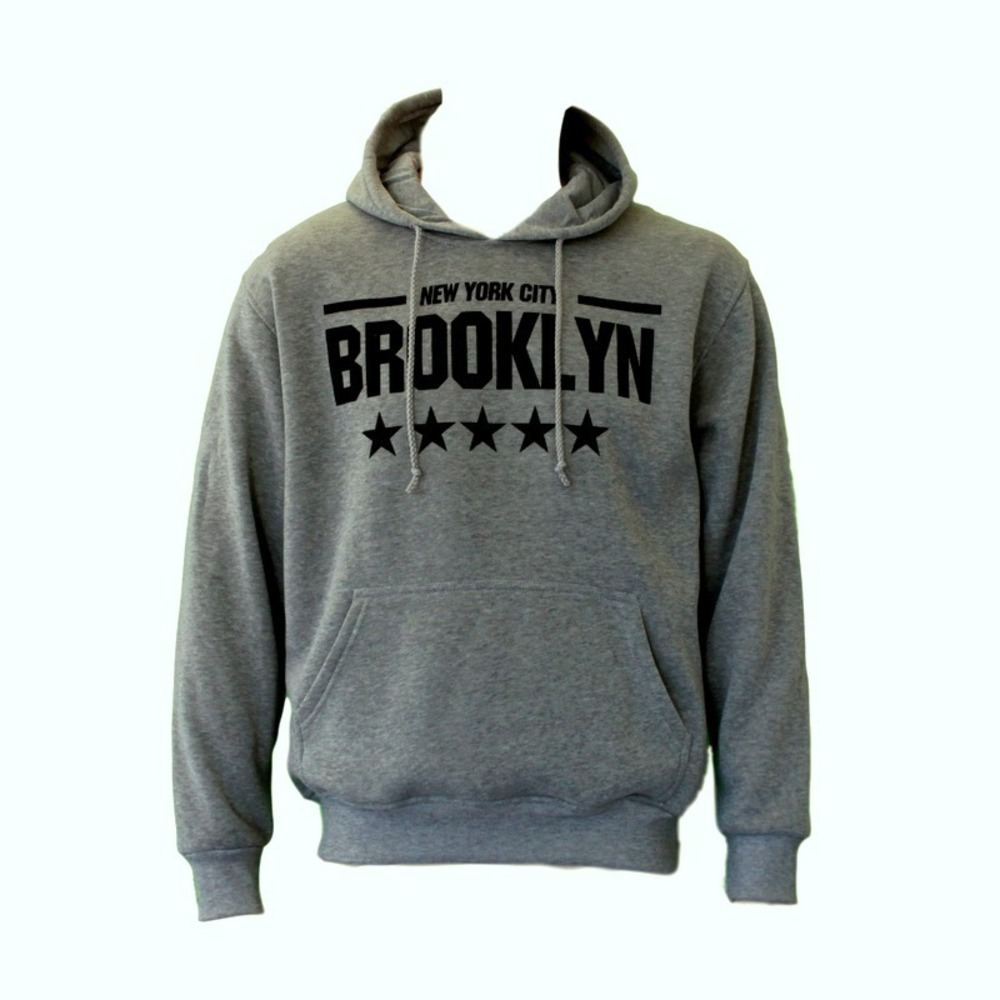 NEW-Men-039-s-Adult-Unisex-Hoodie-Jumper-Pullover-Casual-Sports-BROOKLYN thumbnail 7