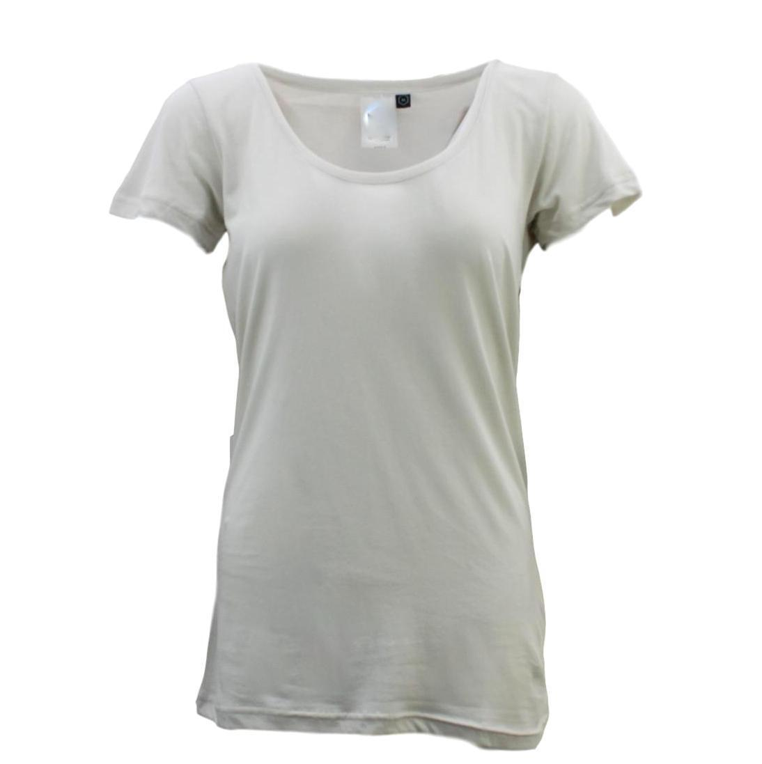 Women-039-s-100-Cotton-Basic-Tee-Scoop-U-Neck-Top-Casual-Short-Sleeve-T-Shirt thumbnail 15