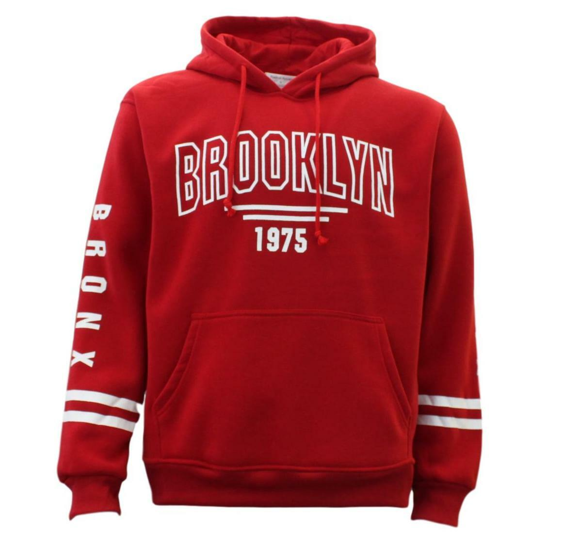 Men-039-s-Adult-Unisex-Hoodie-Jumper-Casual-Pullover-Sports-Brooklyn-1975 thumbnail 7
