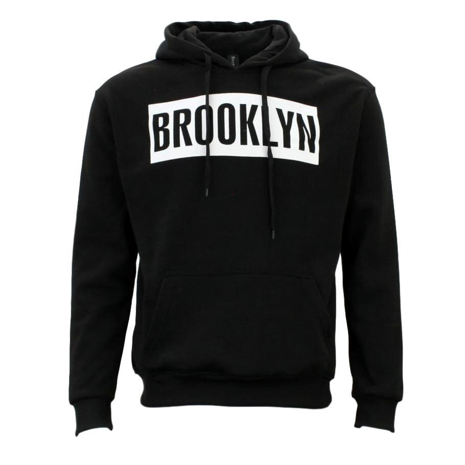 Adult-Men-039-s-Unisex-Hoodie-Hooded-Jumper-Pullover-Women-039-s-Sweater-BROOKLYN thumbnail 5