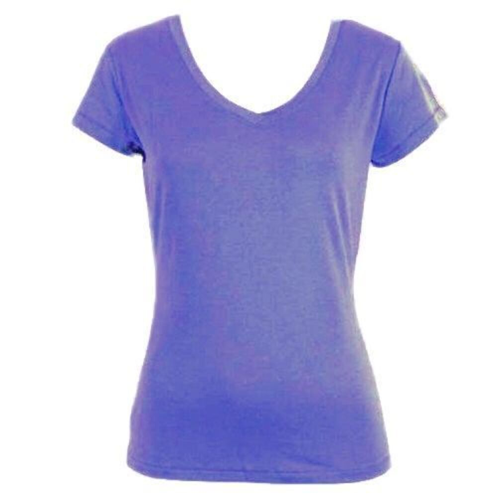 Women-039-s-Ladies-Soft-Stretch-T-Shirt-Tee-Top-Basic-Plain-White-Black-Colours-8-18 thumbnail 30