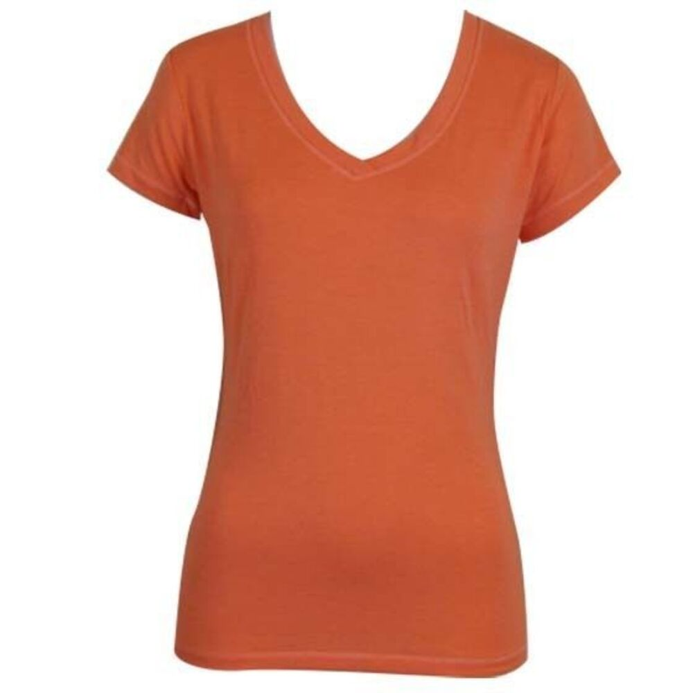 Women-039-s-Ladies-Soft-Stretch-T-Shirt-Tee-Top-Basic-Plain-White-Black-Colours-8-18 thumbnail 38
