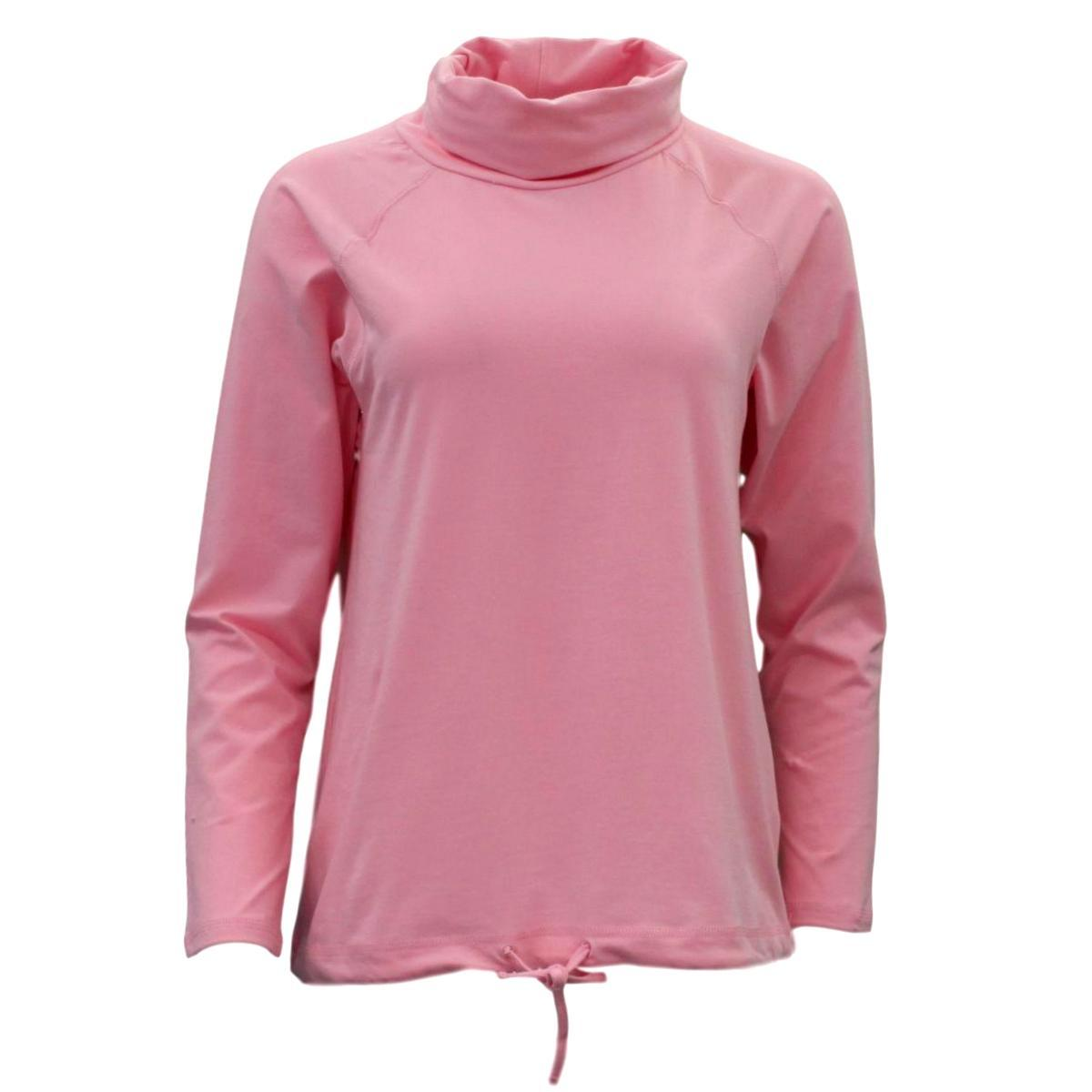 Women-039-s-Cotton-Long-Sleeve-Turtle-Neck-Skivvy-Top-High-Neck-w-Drawstring-Hem thumbnail 15