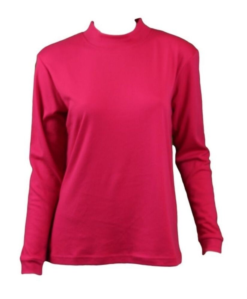 NEW-Women-039-s-Cotton-Skivvy-Long-Sleeve-Top-High-Neck-Basic-Plain-Core thumbnail 23