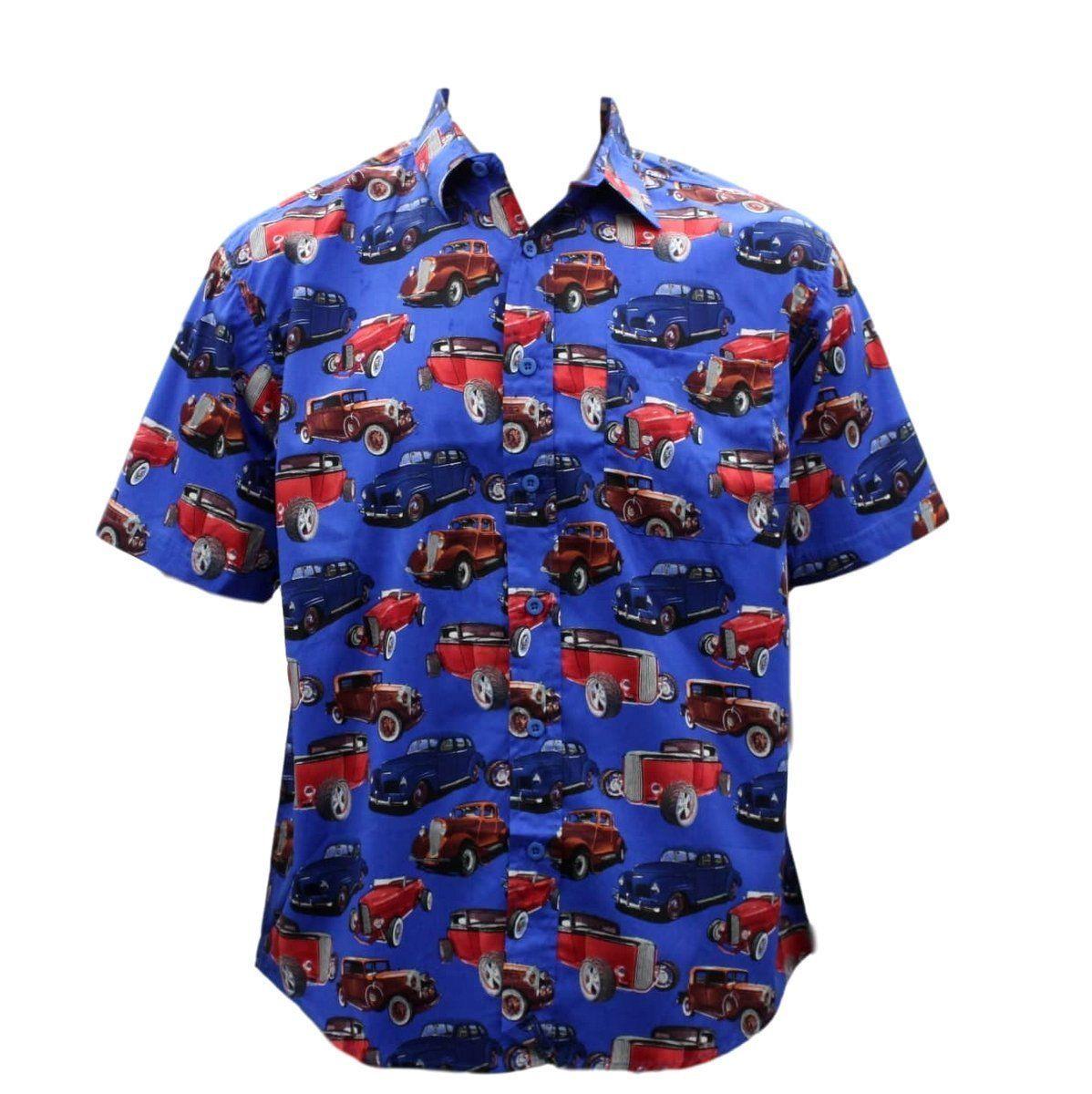 thumbnail 84 - NEW Men's Short Sleeve 100% Cotton Shirt Tropical Hawaiian Summer Style S-6XL