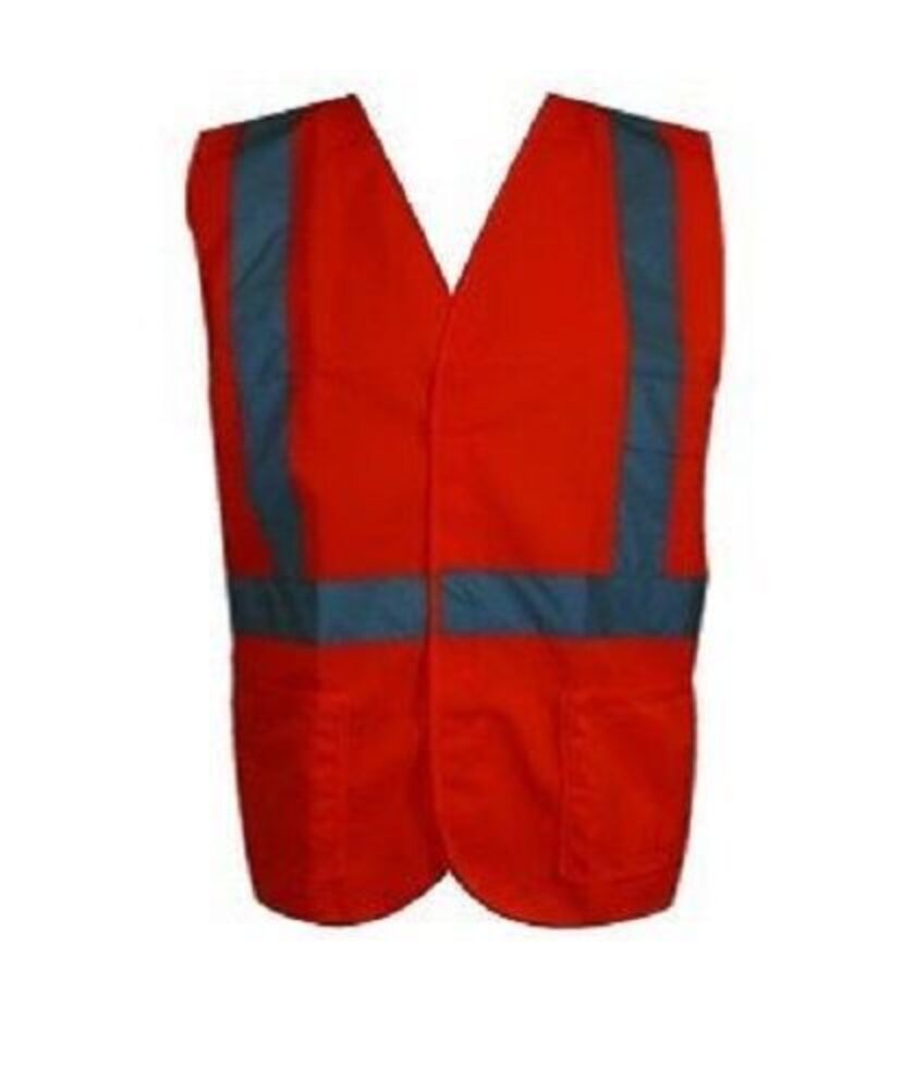 Hi-Vis-Workwear-Safety-Vest-with-Reflective-Tape-Orange-and-Lime thumbnail 7