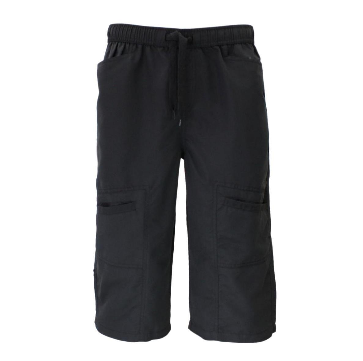 Mens-3-4-Cargo-Long-Shorts-Multi-Pocket-Elastic-Waist-Drawstring thumbnail 3