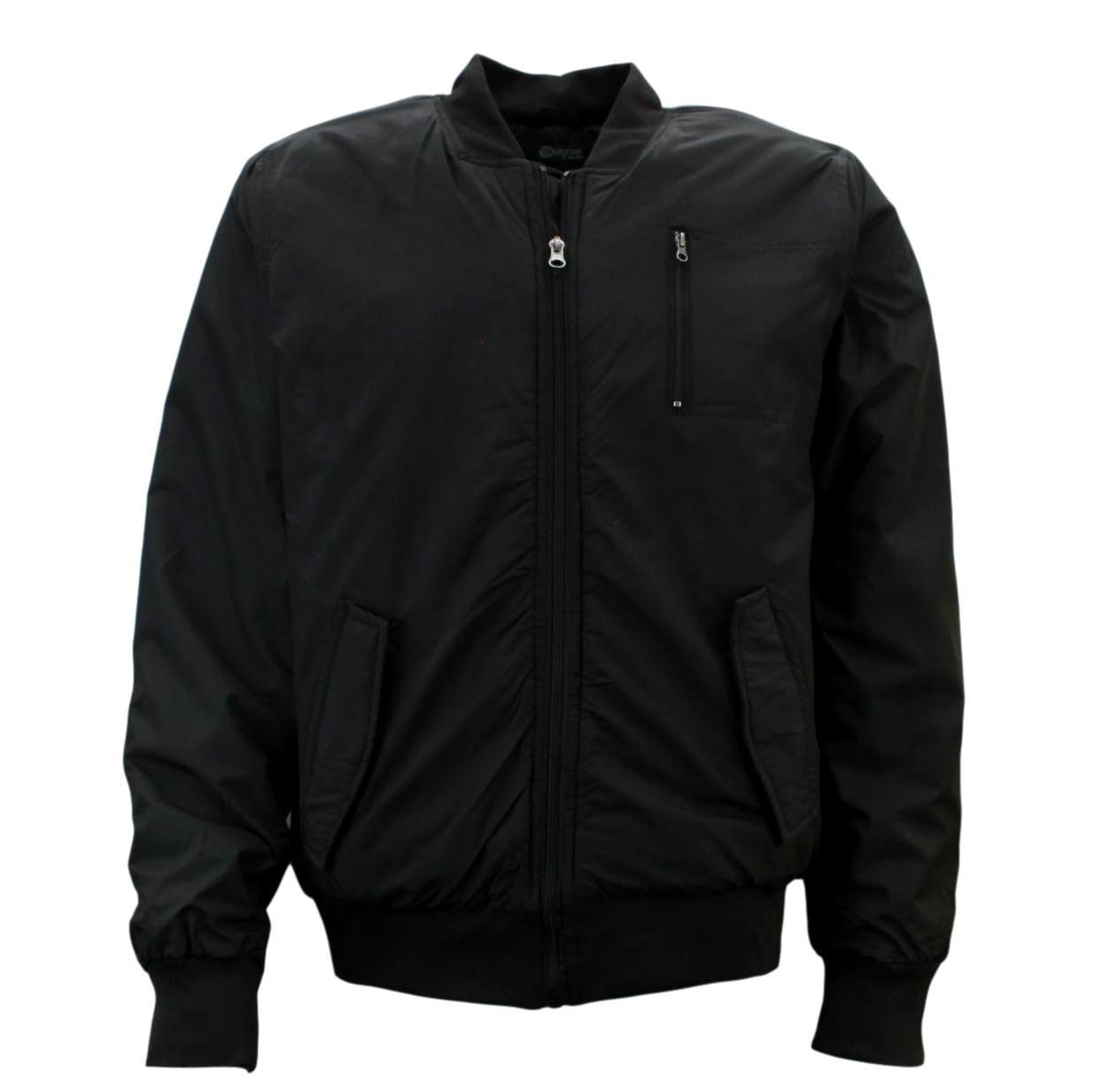 Ozemocean-Mens-Bomber-Jacket-Water-Resistant-Padded-Coat-Winter-Warm-Quilted thumbnail 3