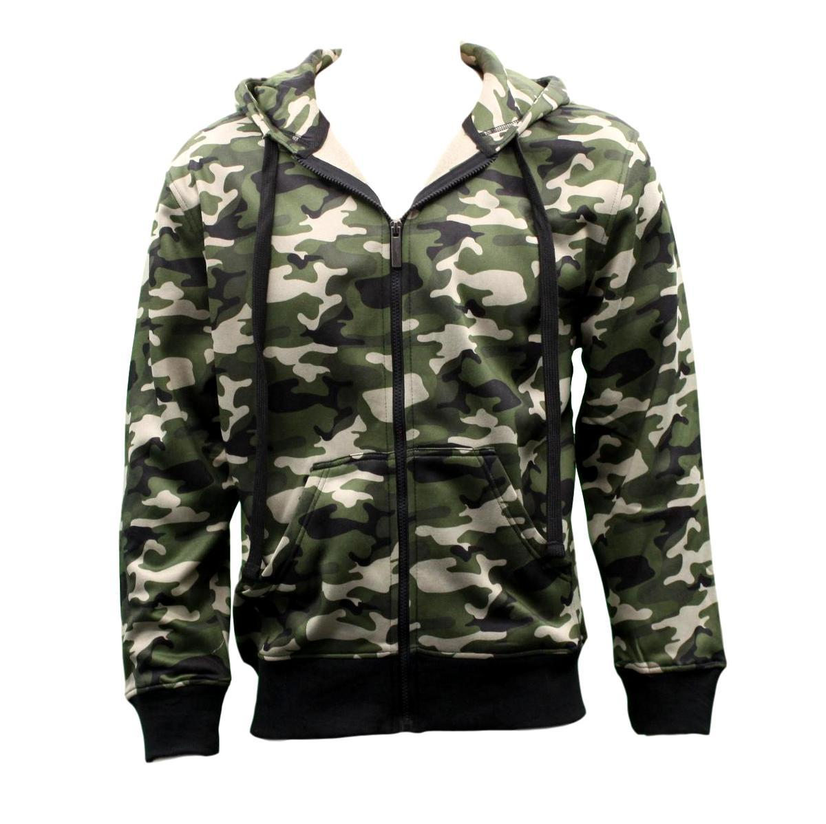Adult-Men-039-s-Zip-Up-Hoodie-w-Fleece-Camouflage-Camo-Military-Print-Hooded-Jacket thumbnail 5