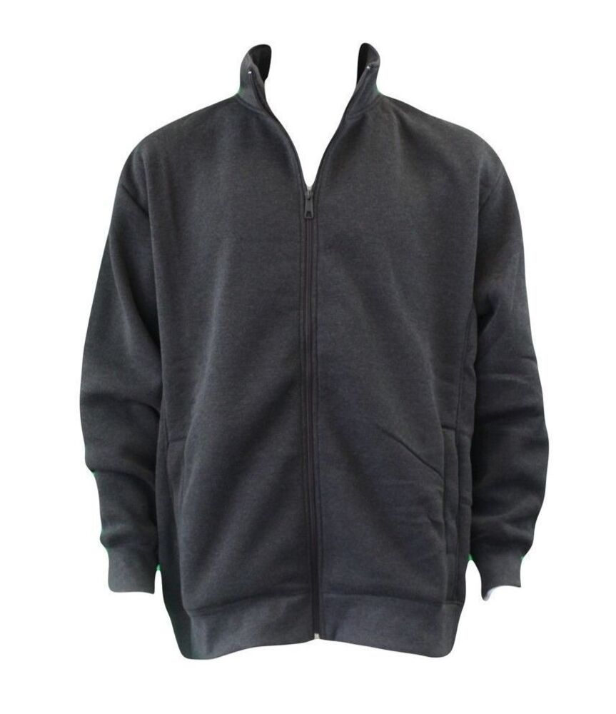 Men-039-s-Big-amp-Tall-Plus-Size-Zip-Up-Sweater-Jumper-Sports-Jacket-3XL-6XL thumbnail 11