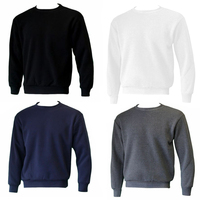 New Men's Adult Unisex Crew Neck Jumper Sweater Pullover Basic Blank Plain S-3XL
