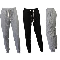 NEW women's Track Pants Slim Cuff Trousers Sport Tracksuit Casual