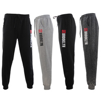 Men's Skinny Jogger Track Pants Cuff Trousers Trackies Sweat Pants - 98 BROOKLYN