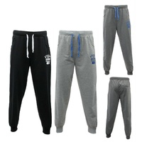Mens Track Pants Gym Sweat Cuffed Jogging Sports Jogger Elastic Waist - USA 96