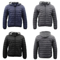 Men's Puffy Puffer Windproof Hoodie Hooded Sherpa Fur Jacket Quilted Winter