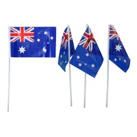 8x Australia Day Small Wavers Hand Held Aussie Australian Flag On Stick