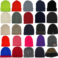 Mens Womens Unisex Beanie Winter Thermal Ski Warm Knitted Sherpa Plain Patterned