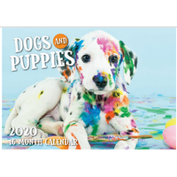 Dogs and Puppies - 2020 Rectangle Wall Calendar 16 Months by Biscay (A)