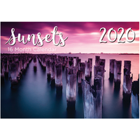 Sunsets - 2020 Rectangle Wall Calendar 16 Months by Biscay (A)