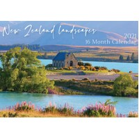 New Zealand Landscapes - 2021 Rectangle Wall Calendar 16 Months by IG Design (B)