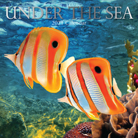 Under the Sea - 2021 Square Wall Calendar 16 month by Gifted Stationery (AM)